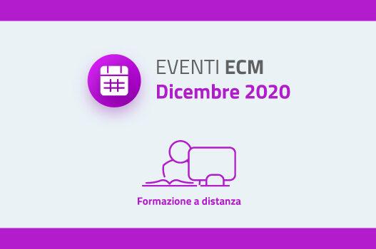 Eventi ECM – Dicembre 2020