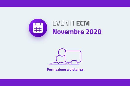 Eventi ECM – Novembre 2020